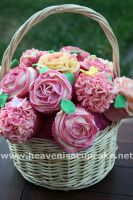 Wedding Cupcake Bouquet by peeka85