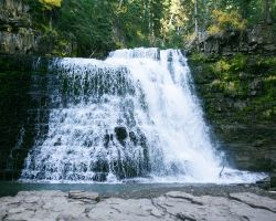 Fast Ousel Falls Big Sky from below by swashbuckler