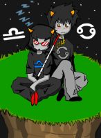 Homestuck: Karkles and T3r3z1 by ChipperTheDrawer