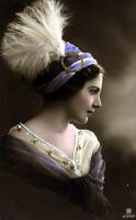 Lady with the Feather by SolStock