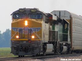 New UP 7527 leads Ex BN Green SD402 UP MASIH 24 by EternalFlame1891