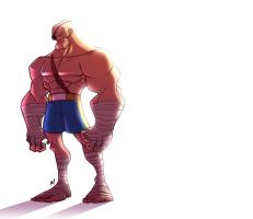 Street Fighter : Sagat by Zatransis