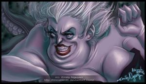 Ursula-- Little Mermaid by emilynguyenart