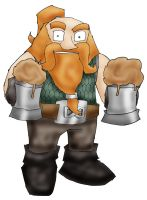 Dwarf with Beer by Meltharos