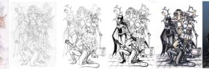 Batman girls process by Valaquia