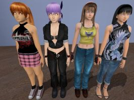 DOA Girls At Attention by VG-MC