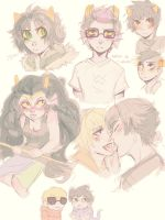 Homestuck Doodles by parsleywhack