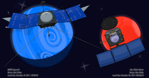 Monthly Space: MAVEN and Mars Orbiter Mission by Ardwick