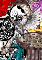 "Coloring: ""Steampunk Angel"" by almyki"