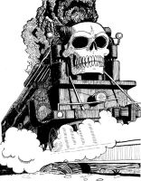 Skull Train by SteveLeCouilliard