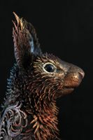 Life size black Squirrel - Head by hontor