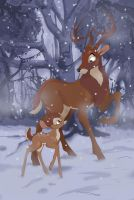 Bambi: Winter Chill by thelovecat