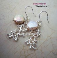 Pearl and Berry Branches by littleorangetree