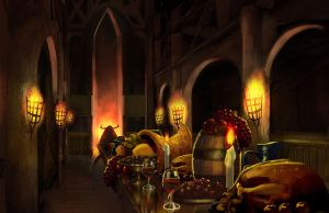Gluttony: the Dining Hall by MoulinBleu