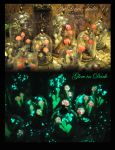 Muchrooms amanita - pendants glow in the dark by Laurefin-Estelinion