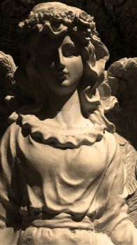 Angel Statuette by BeibhinnC