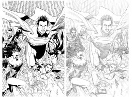 superman and his amazing friends by benttibisson