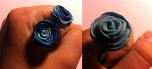 Blue roses by Se34r5