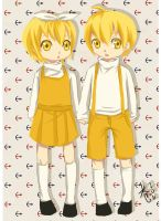Kagamine Len and Rin 3 by evoone