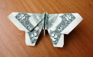 2 Dollar Bill Butterfly by craigfoldsfives