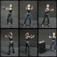 Lara Croft catsuit TR3 papercraft by BRSpidey