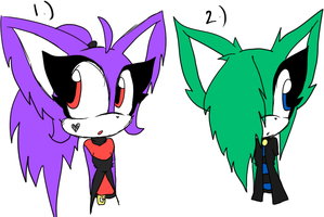 2 Free Sonic Adoptables-CLOSED by Sky-Yoshi