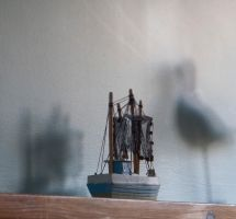 Boat on the mantle piece by zingmatter