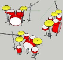 Sketch up drum kit by turnbuckle