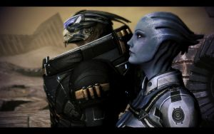 ME3 Garrus and Liara on Tuchanka 2 by chicksaw2002