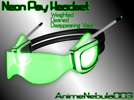 Neon Psy Headset - AN003 by AnimeNebula003
