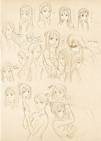 FMA: Girls' faces and stuff by zulenha