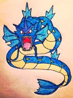 Gyarados goes RAWR! by ThyWordIsTruth