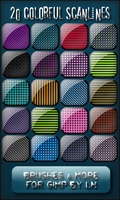 20 Colorful Scanlines for GIMP by el-L-eN