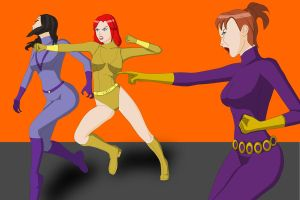 Action Gal versus Purple Vixen gang by Dangerman-1973