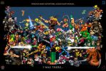 Video Game Characters Poster by whittingtonrhett