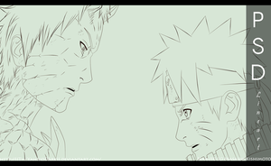 Naruto 653 It Is Not Easy Hokage Lineart PSD by IITheYahikoDarkII