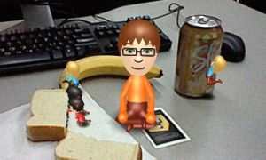 Miis at lunch 2 by rabbidlover01