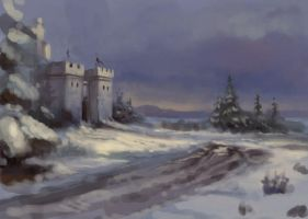 Speed - winter castle by DevBurmak