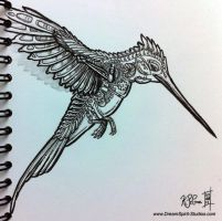 Mechanical Hummingbird Sketch by Dreamspirit