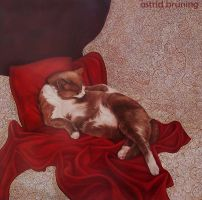 The Reclining Nude - Painting by AstridBruning
