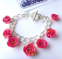 English Summer Rose Bracelet by tyney123
