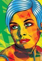 Twiggy Pop Art by roberlan