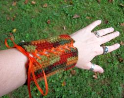 Autumn Wood Elf Bracers by merigreenleaf