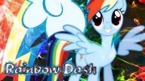 Rainbow Dash Desktop Wallpaper! by 4EverRandomPuppy20