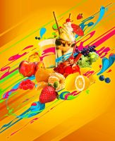 IcreCream and Fruits by kanirr