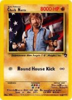 Chuck Norris Pokemon Card by zaku40