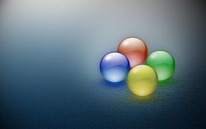Windows four balls in mist by AbhishekGhosh