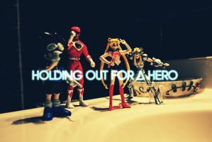 Holding on for a hero by indieferdie