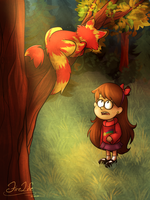 Mabel Pines and Jake by LevinFiery