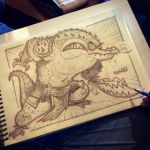 10th SketchBomb NewDelhi - CrocodileWarrior by kshiraj